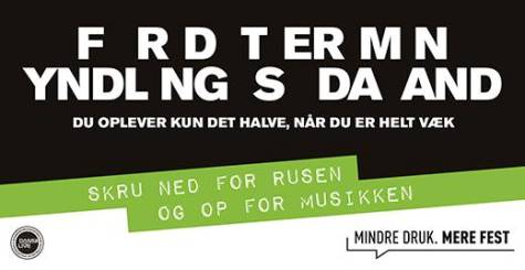 Skru ned for rusen og op for musikken...